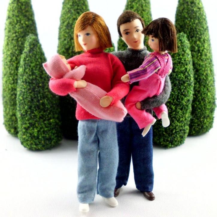 Familie 11 (Set bestehend aus Mama, Papa, Mädchen und Baby)