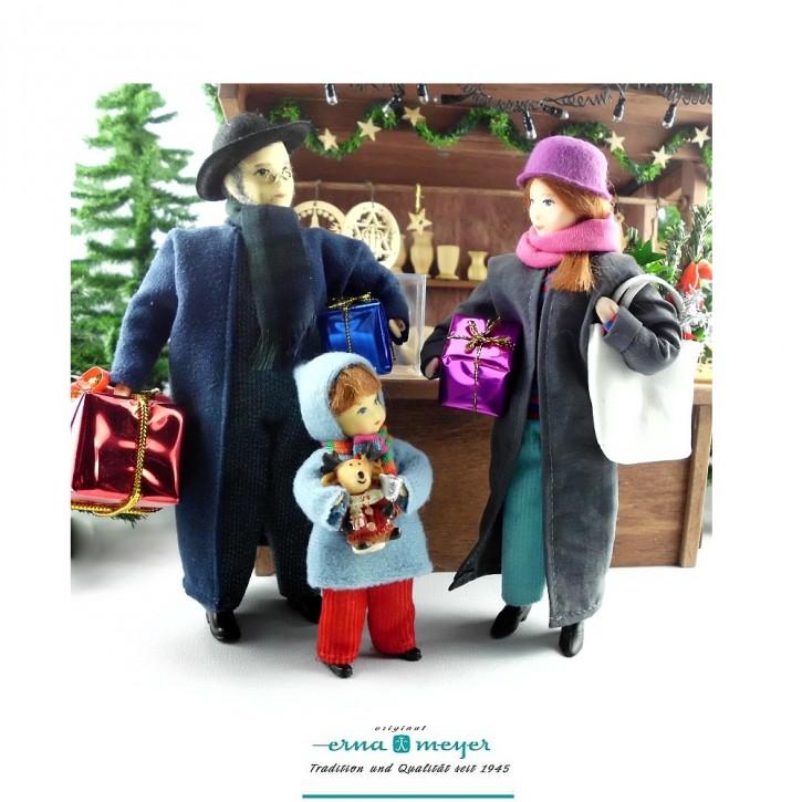 Weihnachtseinkauf -  (Set bestehend aus Mama, Papa und Kind)