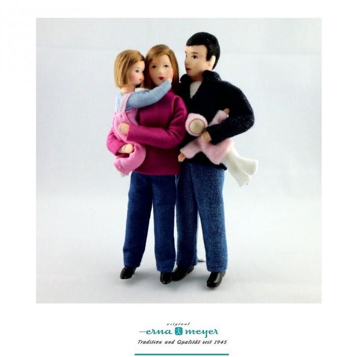 Familie 1 (Set bestehehend aus Mama, Papa, Mädchen und Puppe)