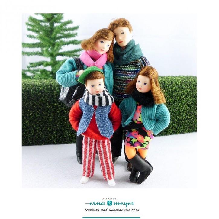Familie 5 -  (Set bestehehend aus Mama, Papa, Mädchen und Junge)