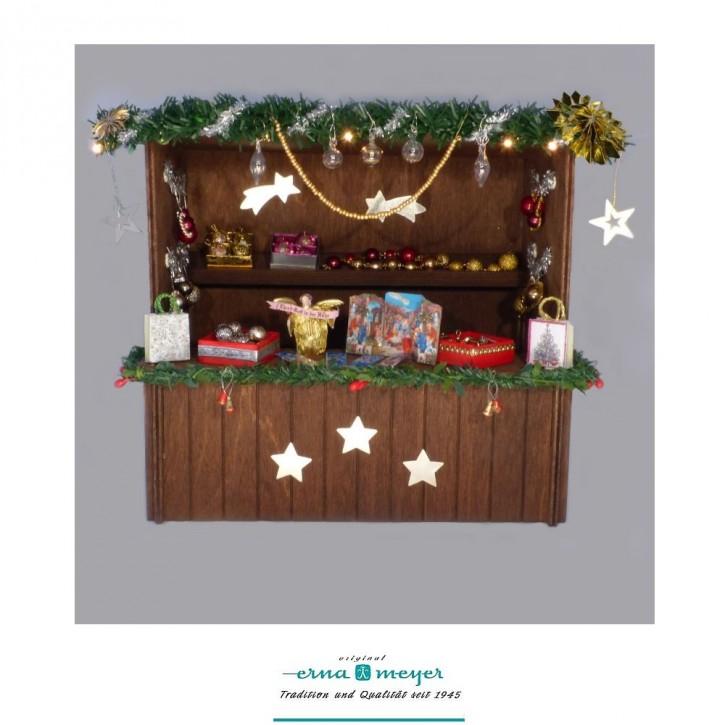 """Weihnachtsmarktstand """"Christbaumschmuck"""" im Maßstab 1:12"""