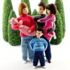 Familie 13 (Set bestehend aus Mama, Papa, Mädchen, Junge und Baby)
