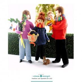 Osterfamilie -  (Set bestehend aus Mama, Papa, Mädchen und Junge)