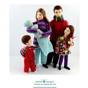Familie 6 -  (Set bestehend aus Mama, Papa, Mädchen,Junge und Baby)