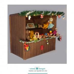 """Weihnachtsmarktstand """"Spielzeug"""" im Maßstab 1:12"""