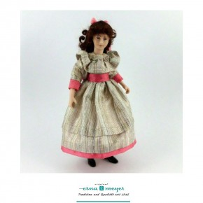Christina - flexible 1:12 scale porcelain dolls