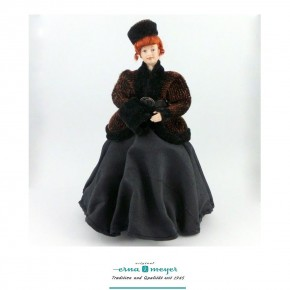 Martha - flexible 1:12 scale porcelain dolls