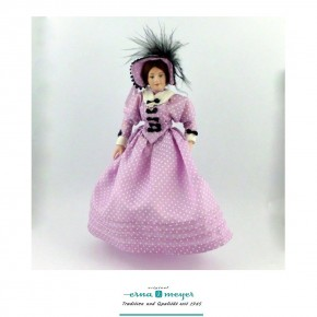 Margarethe - flexible 1:12 scale porcelain dolls