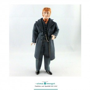 Mortimer - flexible 1:12 scale porcelain dolls